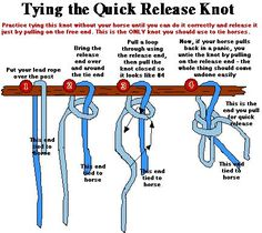 How to tie a quick-release knot. Easy instructions. I finally understand how to do it. Thank you, whoever made that.