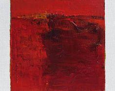 16 mai 2017 peinture - abstrait peinture à l'huile - 9 x 9 (9 x 9 cm - environ 4 x 4 pouces) avec 8 x 10 pouces mat