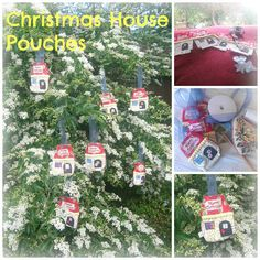 Christmas House Pouches Pouches, Christmas Crafts, Holiday Decor, Kids, House, Home Decor, Young Children, Children, Home