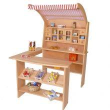 Kaufladen aus Holz Kaufmannsladen 3017