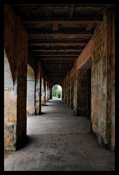 Hallway by Juancho Reyes, via Flickr  | Lazi Convent | Phillipines