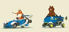 Zoom Zoo - Art by Mike Yamada