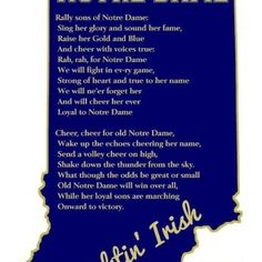 """Notre Dame Song. Like the Irish?  Be sure to check out and """"LIKE"""" my Facebook Page https://www.facebook.com/HereComestheIrish  Please be sure to upload and share any personal pictures of your Notre Dame experience with your fellow Irish fans!"""