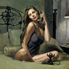 Black Phone II from Fabian Perez available now from Evergreen Art Cafe