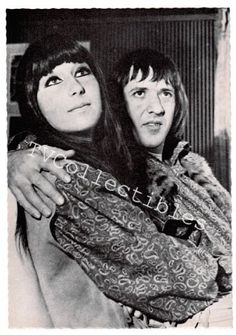 4x6 Postcard Sonny And Cher Bono  ~ 1960s Germany import