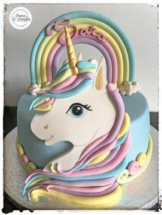 unicorno cake - cake by aroma di vaniglia Fondant Cakes, Cupcake Cakes, Unicorn Birthday Parties, Birthday Cake, Girl Birthday, Little Pony Cake, Character Cakes, Girl Cakes, Love Cake