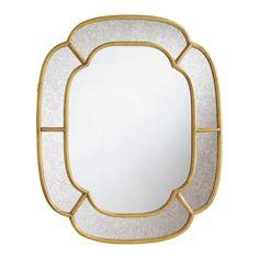 Specchio in metallo dorato Valois