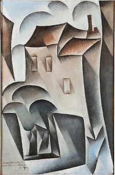 Houses in Paris, Place Ravignan Juan Gris (Spanish, Madrid 1887–1927 Boulogne-sur-Seine) Date: Paris, 1911, possibly 1912 Medium: Oil on canvas