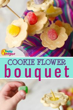 This adorable cookie flower bouquet is a great Mother's Day gift for kids who love to give homemade. What mom or grandma wouldn't love to receive such a thoughtful and delicious gift from a child on their special day. Great Mothers Day Gifts, Mothers Day Crafts For Kids, Gifts For Kids, Special Gifts, Cookie Bouquet, Flower Cookies, Quick Crafts, Fun Crafts, Snail Craft