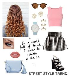 """""""Day on the town"""" by sassy-not-trashy ❤ liked on Polyvore featuring Glamorous, Molo, BCBGeneration, Kate Spade, Lime Crime, Ray-Ban, Charlotte Russe, Topshop and The Horse"""
