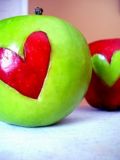 heart shaped apple snacks!  great for valentines day or just for kids after school snacks