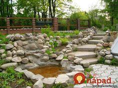 garden paths with steps Garden Paths, Garden Bridge, Landscaping A Slope, Rock Garden Design, Natural, Stepping Stones, Landscape Design, Sidewalk, Outdoor Structures