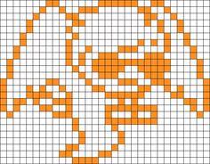 Homestuck Davesprite bead pattern