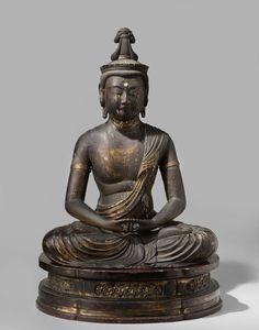 De boeddha Amida Nyorai, anoniem, ca. 1500 - ca. Buddha Figures, Buddha Life, Amsterdam, Sculpture Painting, Effigy, Buddhist Art, Religious Art, Ancient Art, Deities