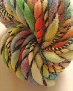 Racing stripe thick and thin art yarn