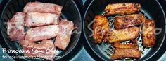 Costelinha de Porco na AirFryer - Fritadeira sem Óleo - AirFryer - - Air Flyer, Air Fryer Recipes, Slow Cooker Recipes, Sausage, Pork, Low Carb, Menu, Cooking, Foods