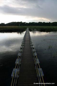 A bridge through the Latvian countryside near Bauska.