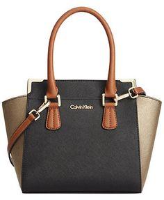 Calvin Klein On My Corner Saffiano Crossbody