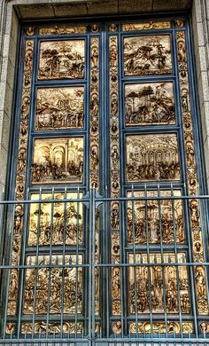 The Doors - Florence Italy - Ghiberti\u0027s Gates of Paradise. He beat out Brunelleschi & Gates of Paradise The sculptor Lorenzo Ghiberti worked for 27 ... Pezcame.Com