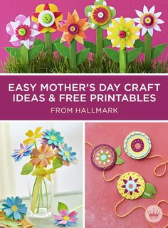 Mother's Day Crafts | Craft a homemade gift she'll love with these cheery Mother's Day crafts from Hallmark. Includes 5 easy Mother's Day craft ideas and free printables.