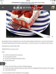 Strawberries & Cream Poke Cake page 1