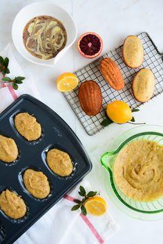 Blood Orange & Meyer Lemon Madeleines with White Chocolate Ganache | @KiranTarun http://kirantarun.com/food