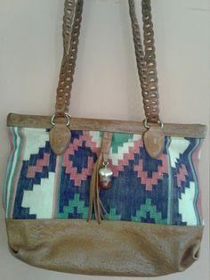 70s KILIM ME SOFTLY—Colorful Boho Shoulder Bag—Double Straps—Kilim and Leather—Tassel by VINTAGELOVERGIRL on Etsy