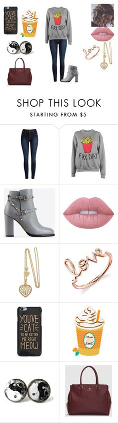 """A Outfit"" by jordanbond55 ❤ liked on Polyvore featuring Adolescent Clothing, Valentino, Lime Crime and Sydney Evan"