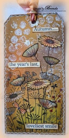 Brenda Brown as Bumblebees and Butterflies for Crafty Individuals with an autumn tag