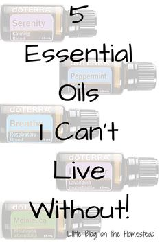 5 Essential oils I can't live without