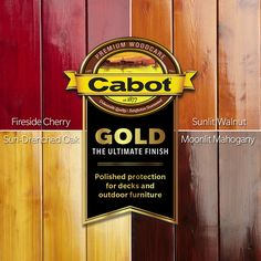 Meet Cabot Gold, The Ultimate Finish, for the look of hardwood floors outdoors. Its unique satin sheen stands up to Mother Nature like the most durable wood stain, and it wears gracefully over time. In four gorgeous colors. Deck Stain Colors, Deck Colors, Cabot Stain, Deck Makeover, Fence Stain, Hardwood Floors, Flooring, Decks And Porches, Deck Design
