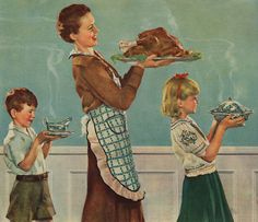 Happy Thanksgiving. An illustration by Douglass Crockwell from a promotional calendar.