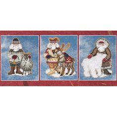 Arctic Circle Santa Ornaments-jbc