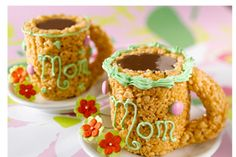 Mothers day mug made with rice krispies