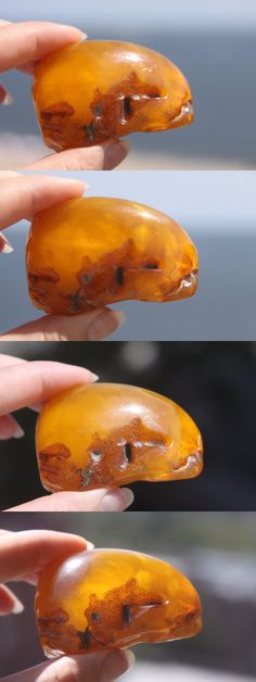 Amber 10191: Antique 100% Natural Baltic Amber Stone 39.4 Gr. Egg Yolk Butterscotch -> BUY IT NOW ONLY: $450 on eBay!
