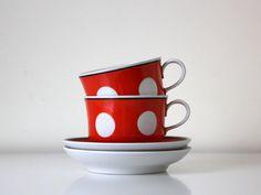 Back in USSR kitchen polka dot tea or coffee set