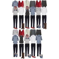 Capsule wardrobe-2 weeks in Europe, 8 tops/layers, 2 jeans, 3 shoes, 1 scarf. 11…