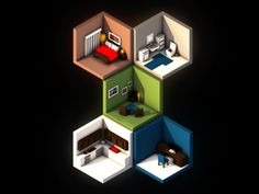 Isometric Rooms