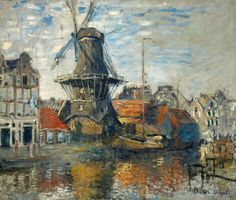 Claude Monet, The Windmill on the Onbekende Gracht, Amsterdam, 1874.