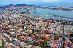 Las Palmas de Gran Canaria. vista de pajaro.