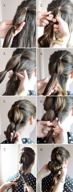 Casual Ponytail for Long Hair