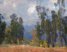 hanson puthuff paintings | hanson puthuff 1875 1972 approach of summer oil on canvas 24 x 30 in
