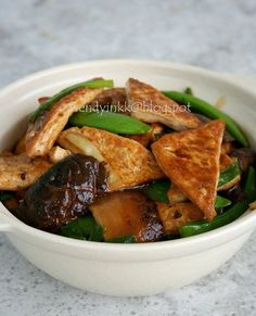 braised bean curd firm tofu with mushrooms braised bean curd firm tofu ...