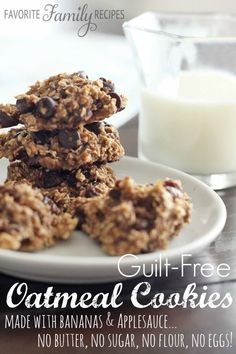 Guilt-Free Oatmeal Cookies from FavFamilyRecipes.com