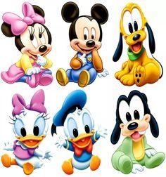 6 Disney Baby Mickey Minnie Display Mesa Decoração Festa Mdf - R$ 28,80 em Mercado Livre