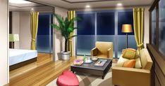 anime living scenery bedroom backgrounds landscape episode tk interactive indoor