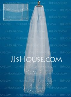 Wedding Veils - $16.99 - Two-tier Fingertip Bridal Veils With Cut Edge (006035500) http://jjshouse.com/Two-Tier-Fingertip-Bridal-Veils-With-Cut-Edge-006035500-g35500