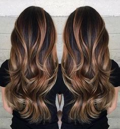 See more about Brown highlights, Highlights for brunettes and Highlights in black hair