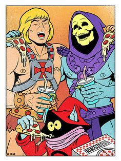 Modern world He-man cartoon