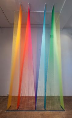 Gabriel Dawe has more patience than you will ever have. gabriel dawe + mixed media and installation artist Gabriel, Plateau Tv, Church Stage Design, Artistic Installation, String Installation, Church Banners, Mexican Artists, Thread Art, Painting On Wood